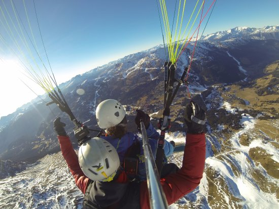 Churwalden, Schweiz: Flug vom Parpaner Rothorn nach Valbella