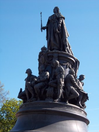 Monument to Catherine the Great: Catherine the Great's Statue on a sunny day.