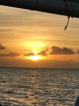 Passaat Classic Schooner: Our beautiful sunset - before dinner.