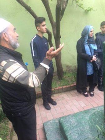 Islamic Religious Sahabe Day Tours: Dervish Baba explaining