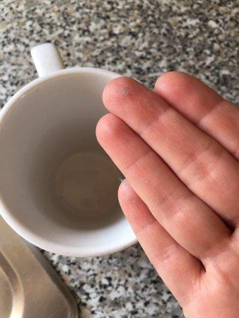 Felixstowe, UK: dust inside mug (all the same)