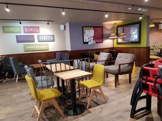 Headcorn, UK: Inside Costa Coffee