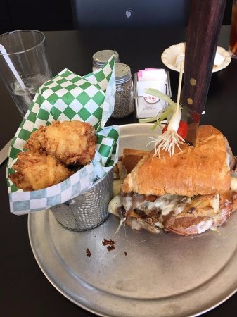 Upland, CA: Cuban sandwich with tater tots