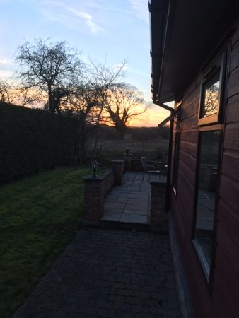 Easingwold, UK: Sunset from Elm Lodge