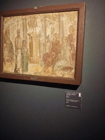 Museo dell'Ara Pacis: mostra in corso, affresco con scena della vendita di una schiava