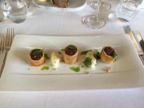 Dedham, UK: Salt beef starter with horseradish cream