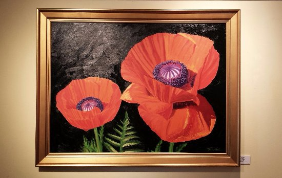 "Washington, VA: Tom Neel, local artist work, ""Poppies""."