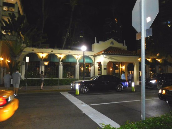 Joe's Stone Crab: Not one, but two fancy new Rolls Royce cars parked in front!