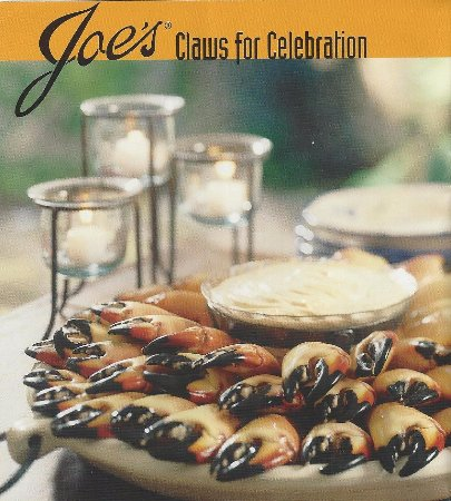 Joe's Stone Crab: I did not know that only the claws are harvested, with the crabs being returned to grow new ones