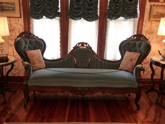 Special courting sofa in the DeLand house in DeLand Florida