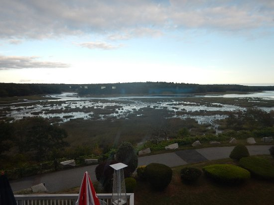 Woolwich, ME: Beautiful view from the upper windows in the setting sun