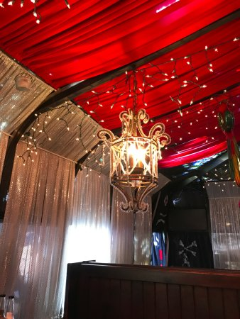 Jolly Roger Restaurant & Bar: lighting over a booth