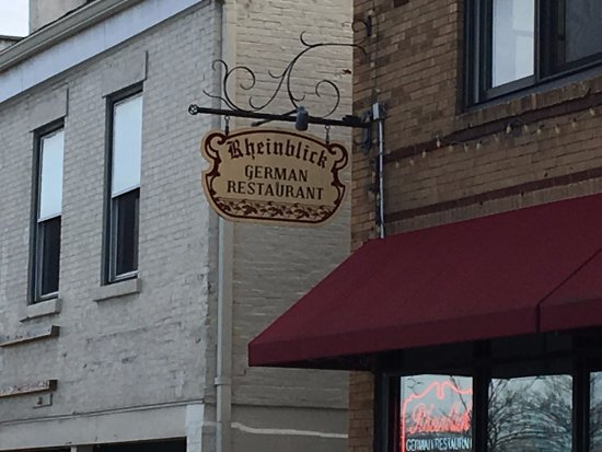 Canandaigua, Nova York: Rheinblick - sign in front