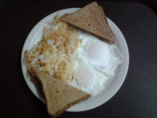Oelwein, IA: Number 4:  Hash browns, Two Eggs, and Toast