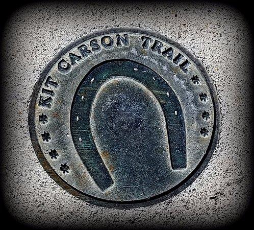 Carson City, NV: Kit Carson Trail marker.