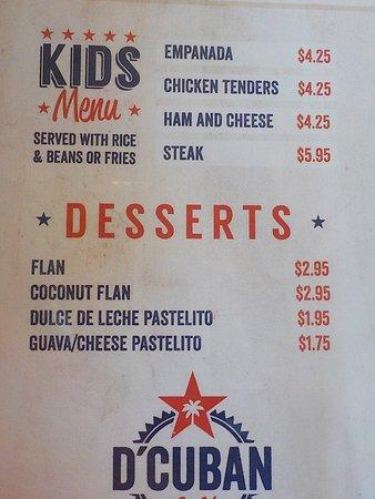 Norcross, Τζόρτζια: D' Cuban Cafe Menu