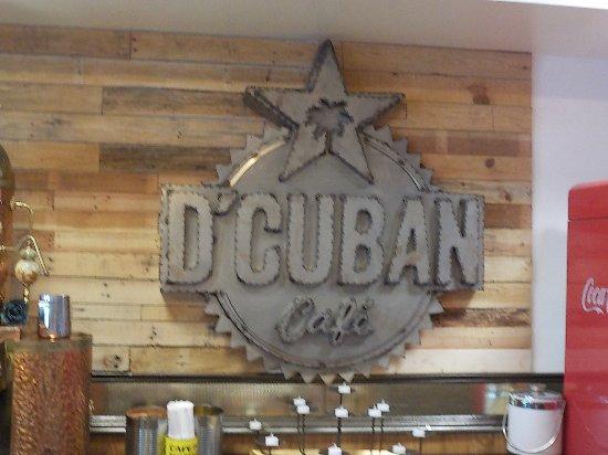 Norcross, Τζόρτζια: D' Cuban Cafe sign