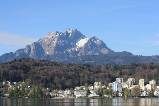 Mount Pilatus : View of Mt. Pilatus from Lake Lucerne
