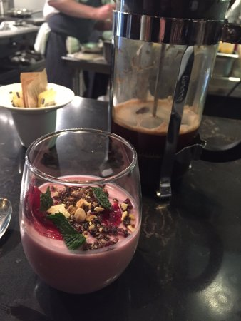 Hibiscus Flan And Coffee Picture Of Evo Kitchen Bar Portland Tripadvisor