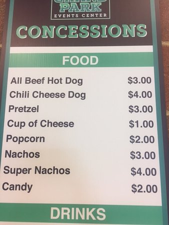 Westfield, IN: Cup of Cheese? I hope it's nacho cheese? Candy is $2. Ouch.