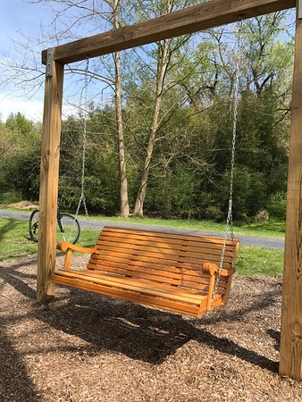 Conewago Recreation Trail: this swing was installed today along the Lebanon Valley part