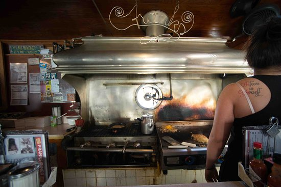 Kenosha, WI: Cooking on a grill in the diner