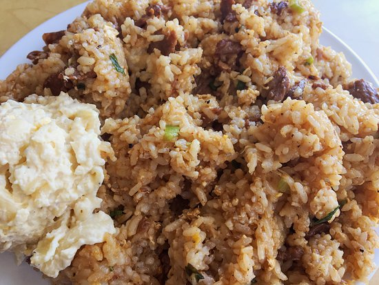 Lakewood, Californien: The steak fried rice with macaroni salad, generous portions! ($8.50)