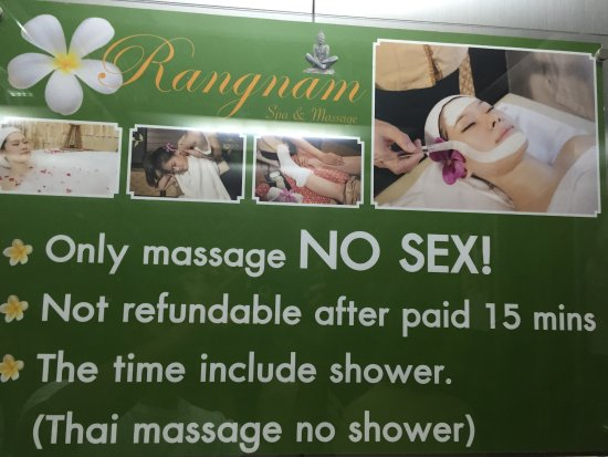 Rangnam Spa Massage Funny Sign In The Elevator