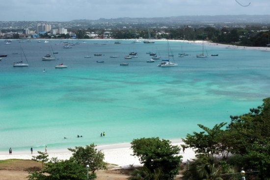 Saint Michael Parish, Barbados: This is the view of Carlisle Bay / harbour from the balcony of room 570. Spectacular