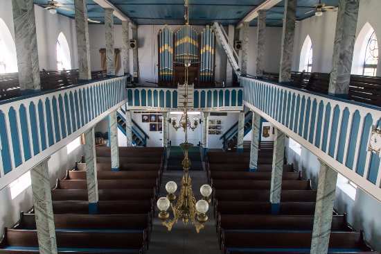 Giddings, Teksas: View from the second level above the pulpit