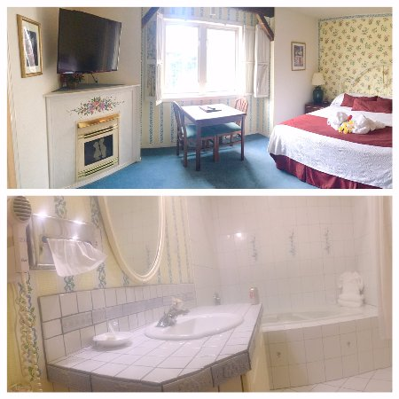 Auld Holland Inn: King room with FP and jetted tub