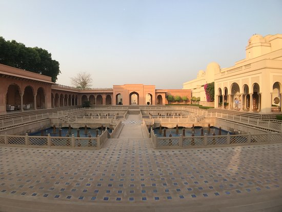 The Oberoi Amarvilas: On arrival you walk through this incredible water feature courtyard.