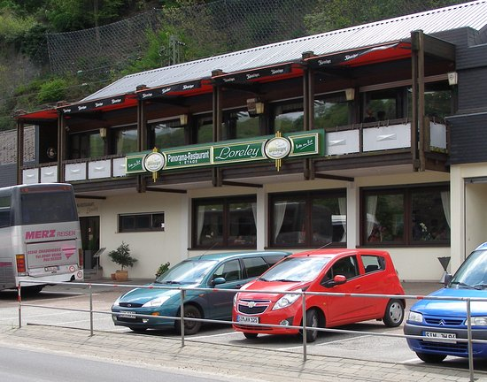 Urbar b Koblenz am Rhein, Tyskland: 餐廳正面