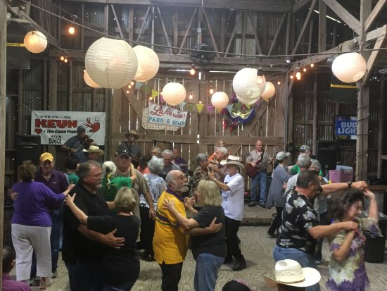 Eunice, Louisiane : Barn Dance during the Annual Boucherie