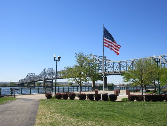 Murray Baker Bridge: View from Riverfront of Peoria