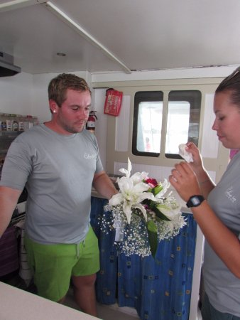 bahía de Simpson, Isla de San Martín: Ben and Martina were so awesome and helped to make our day special