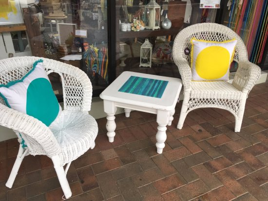 McLaren Vale, Australia: individually upcycled pieces all using chalk paints