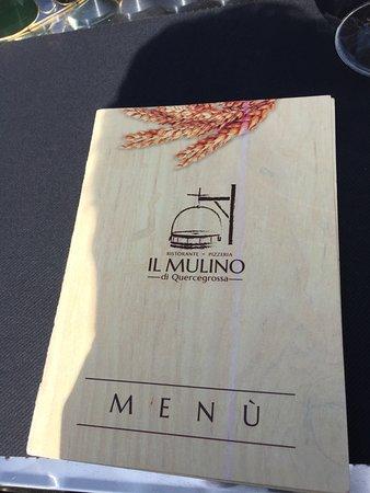 Quercegrossa, Italia: menu