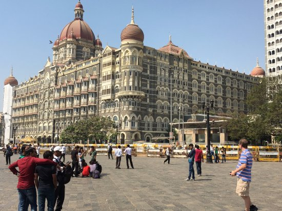 Taj Palace across street from Gateway of India