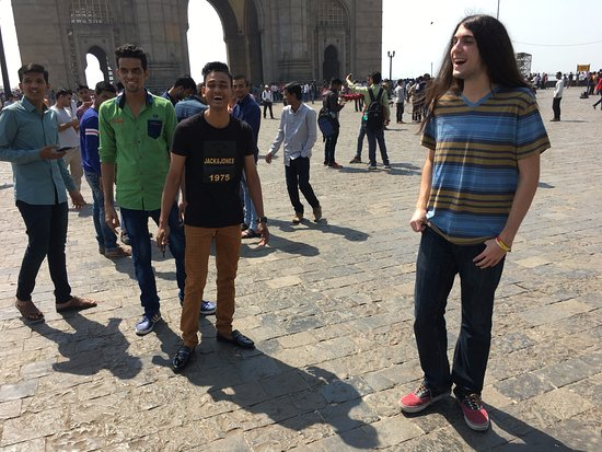 Gateway of India: Group photos with Indians