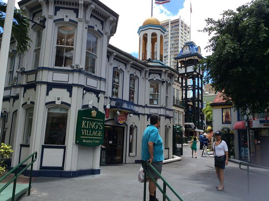 King's Village Shopping Center : Different architecture, nice clock tower