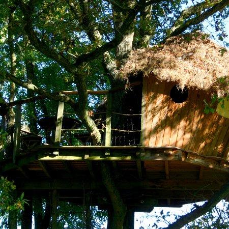 Saint-Albain, France : cabane Saint Amour vue extérieure