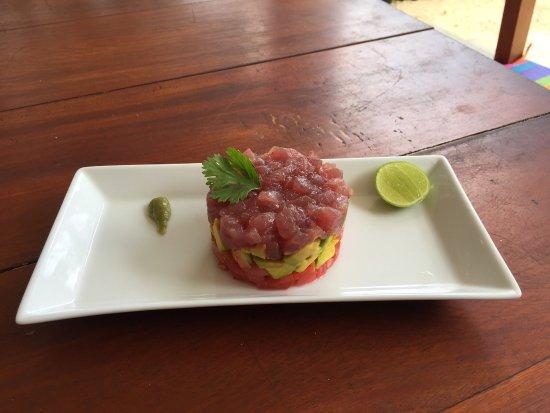 Habaraduwa, Sri Lanka: Fresh Tuna Tartare Mumbo jumbo beach reaturant