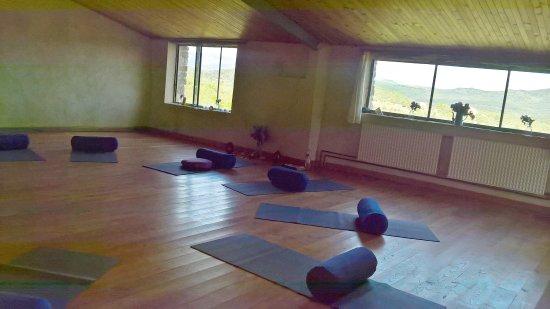 Simiane-la-Rotonde, ฝรั่งเศส: Le  Dojo   :    salle de pratique ,yoga ,méditation