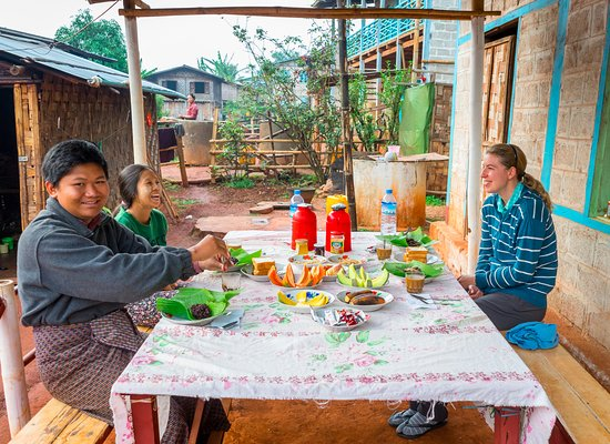 Kalaw, Burma: Still a bit tired at breakfast
