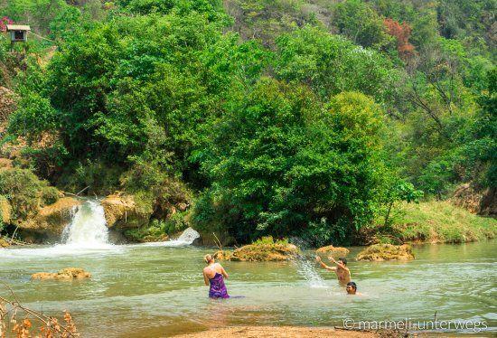 Kalaw, Burma: Taking a swim on the second day
