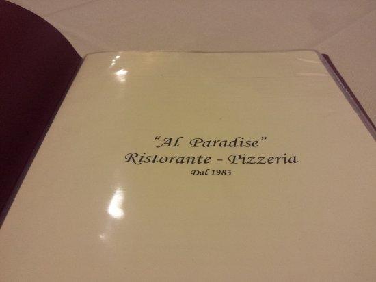 Al Paradise : Menu...