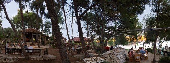 Milna, Croatia: panoramic view of the restaurant