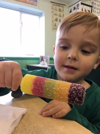 Dunwich, UK: Ice Lolly in the cafe