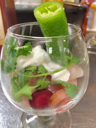Saugerties, NY: Red Snaper Cru wth coconut-lime whip